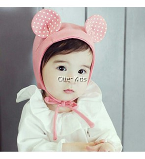 Baby Kids Pink Ear Hat
