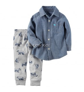 Baby Boy Kids Fashion 2pcs Carters set
