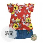 Anan Girl Set With Jeans Skirt