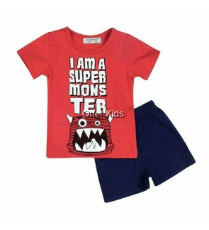 Boy Kids Short Pants Monster Clothing Sets