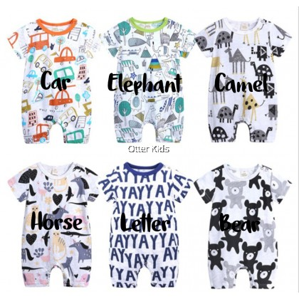 [READY STOCK] Baby Rompers Boys Girls Short Sleeve Kids Tales