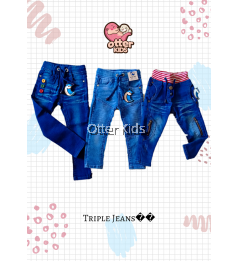 Baby Boy Kids Denim Jeans / Jogger Pants size 1y-6y