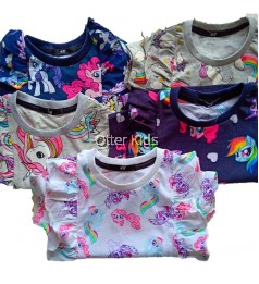 [Otter Kids] Baby Girl Ruffle Poney Tee Shirt