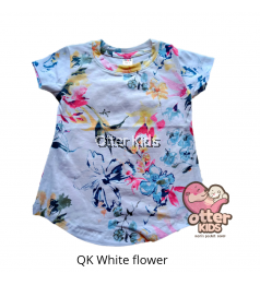 [Otter Kids] Girl T-Shirt QK White Flower