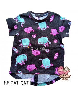 [Otter Kids] Girl T-Shirt HM Fat Cat