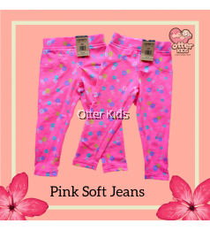 [Otter Kids] Baby Girl Soft Printed Jeans - Pink