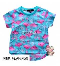 [Otter Kids] Girl T-Shirt HM Pink Flamingo