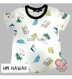 [Otter Kids] Boy T-Shirt HM White Hawaii