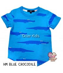 [Otter Kids] Boy T-Shirt HM Blue Crocodile