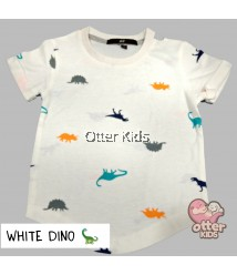 [Otter Kids] Boy T-Shirt HM White Dino