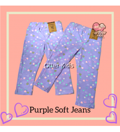 [Otter Kids] Baby Girl Soft Printed Jeans - Purple