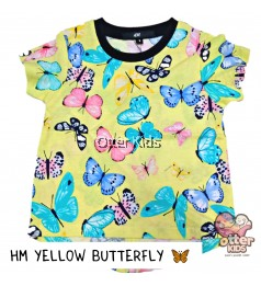[Otter Kids] Girl T-Shirt HM Yellow Butterfly