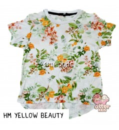 [Otter Kids] Girl T-Shirt HM Yellow Beauty