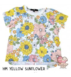 [Otter Kids] Girl T-Shirt HM Yellow Sunflower