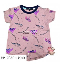 [Otter Kids] Girl T-Shirt HM Peach Pony