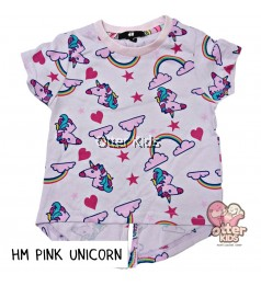 [Otter Kids] Girl T-Shirt HM Pink Unicorn
