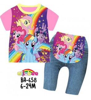 Ailubee Baby Size Little Pony Sleepwear BA658