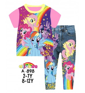 [8-12y] Ailubee Kids Size Little Pony Sleepwear A-898
